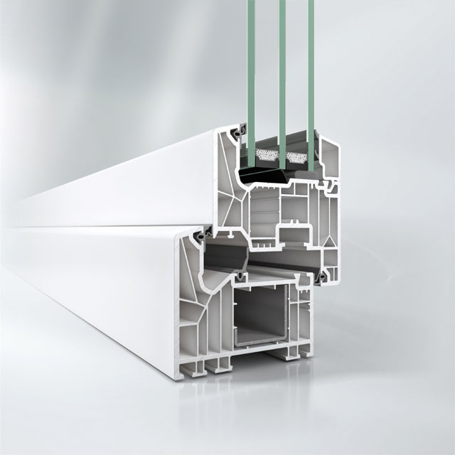 Profil Kunststoff-Fenster SCHÜCO LivIng