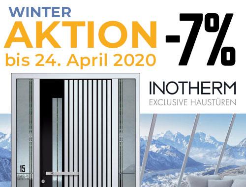 Winter-Aktion 7% auf ausgewählte Aluminium-Haustüren