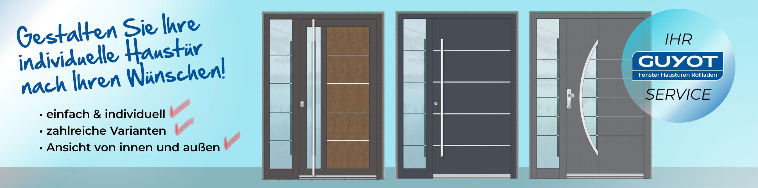 Haustürkonfigurator für moderne Haustüren aus Aluminium