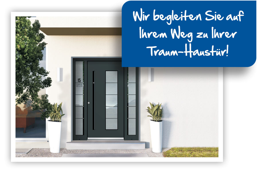 Hochwertige Haustür aus Aluminium Region Bensheim