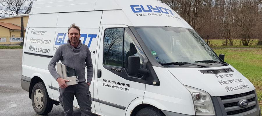 Rainer Guyot Inhaber der Firma Guyot Fenster Haustüren Rollläden vom Profi aus der Region Bensheim